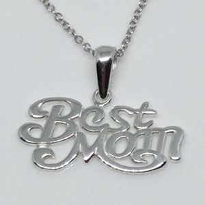 "Jewelry - Sterling Silver ""Best Mom"" Pendant and Chain"
